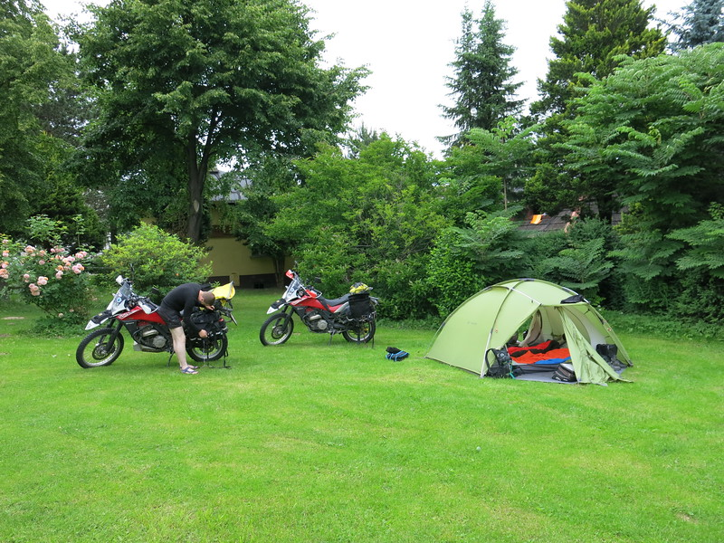 Our campsite just outside Bielsko-Biala