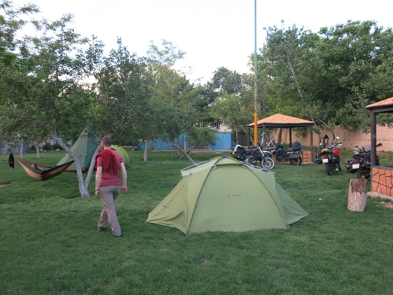 Free and secured camp site in Tabriz