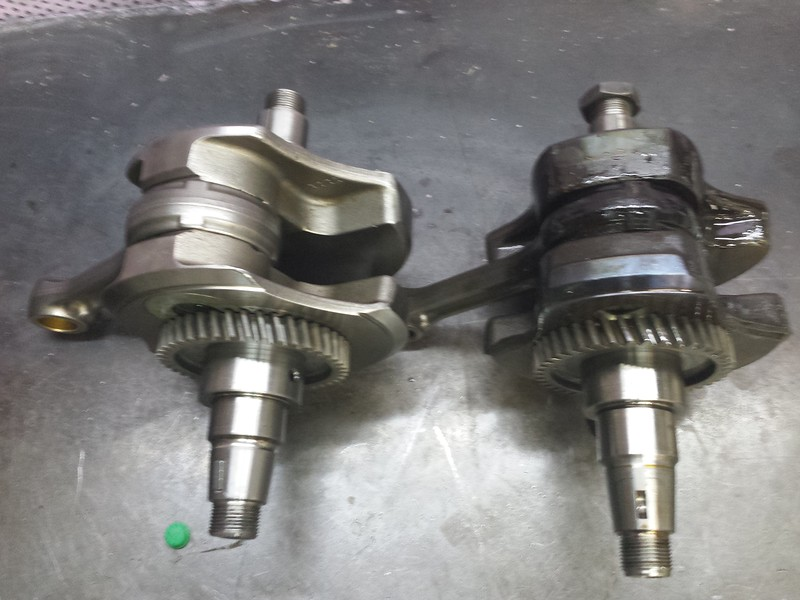 Good 650GS crank and bad TR650 crank