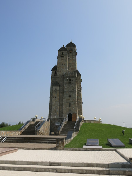 Memorial to Inghusetian soldiers that have fallen. At the same time an indictment against Russian oppression.