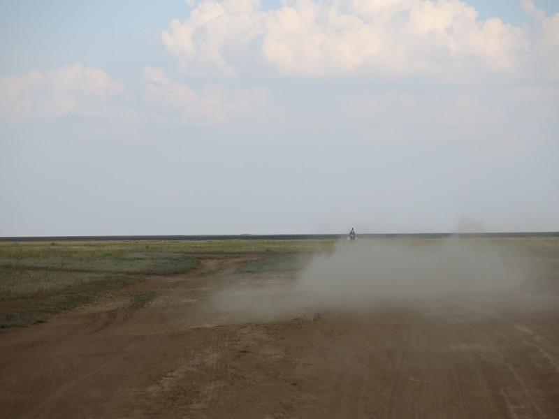 Nice dirt piste near Elista