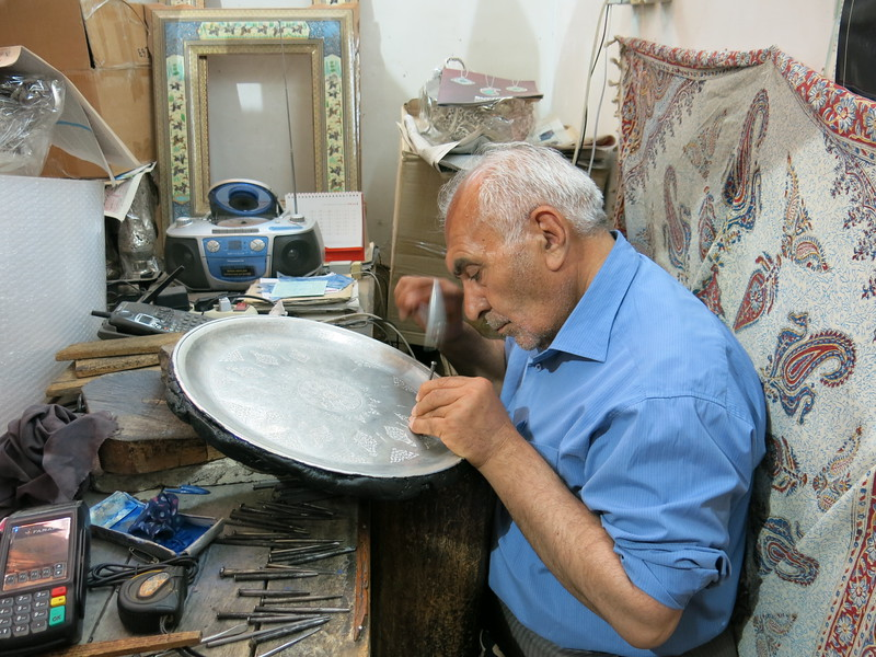 Specialist at work in the Esfahan bazaar