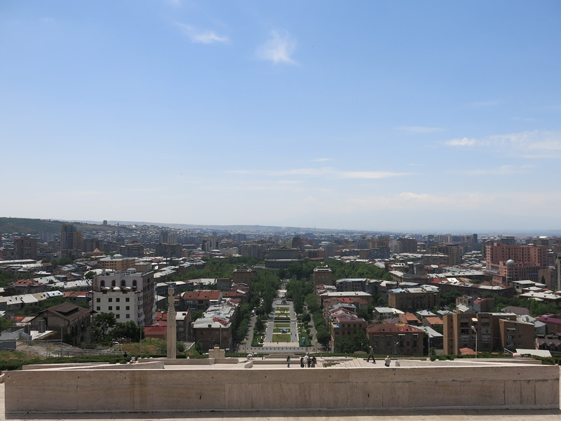 View on Yerevan from Cascade Stairs