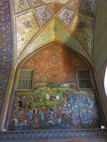 European style painting in Chehel Sotoun palace, Esfahan