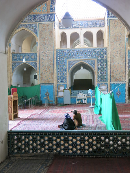 Inside the Friday mosque in Yazd