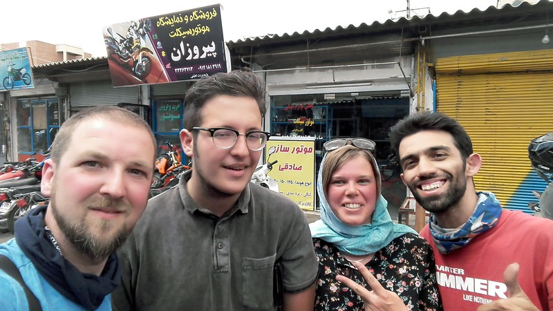 Helping hands from two Iranian Adventure Travellers