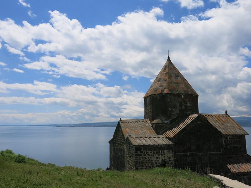 Sevanavank Monastery overlooking Lake Sevan