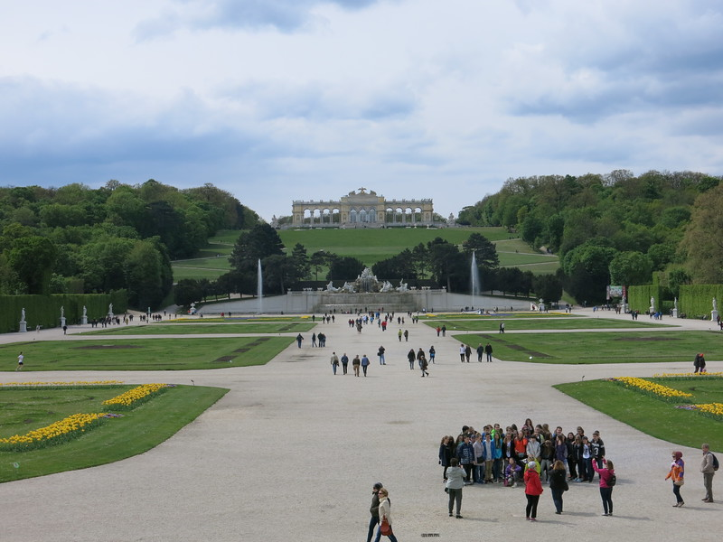 View from Schönbrunn castle towards the Gloriette