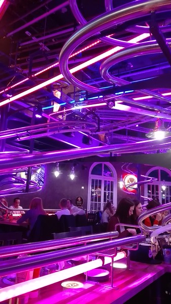 Totally bonkers rollercoaster restaurant in Vienna