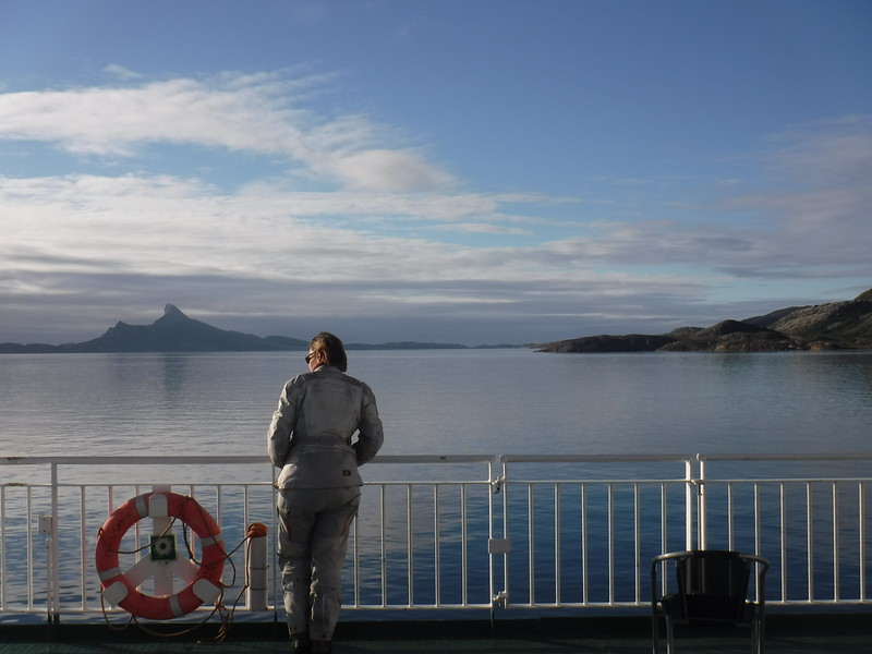 Crossing the arctic circle on a ferry