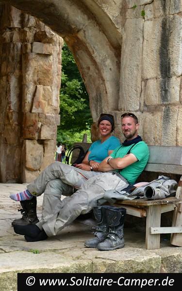 Chilling at Gelati monastery