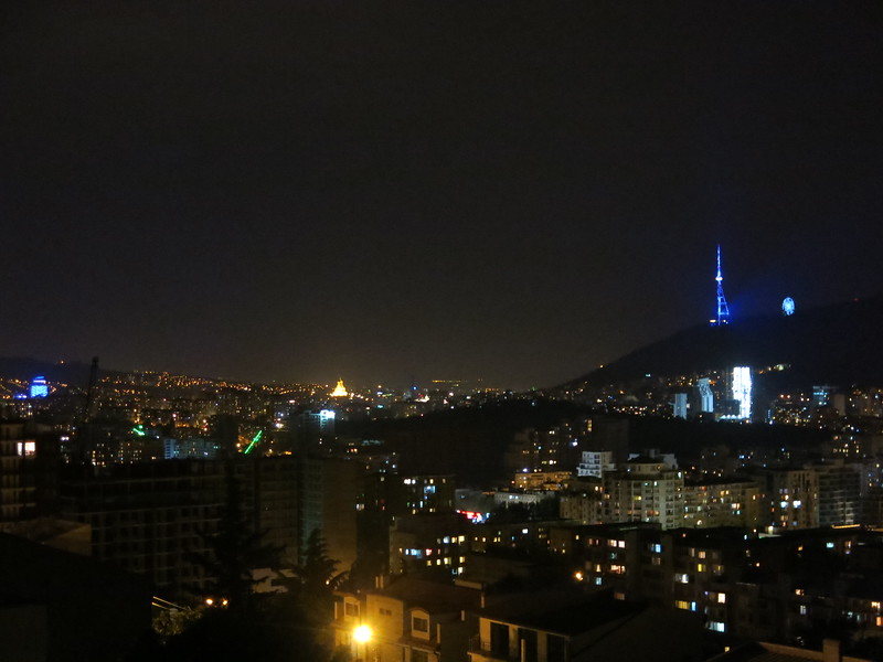 Night skyline of Tbilisi