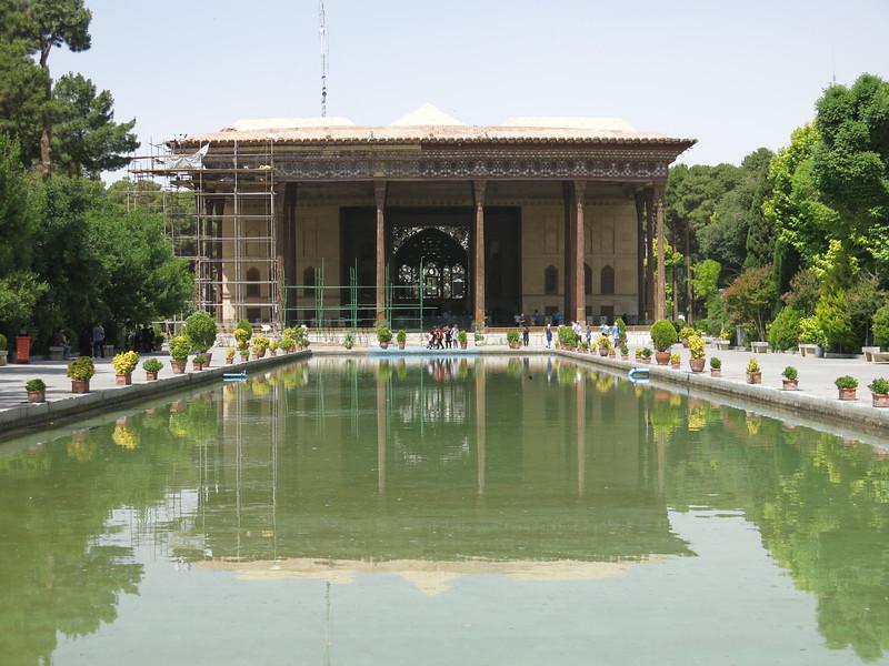 Chehel Sotoun palace, famed for its 40 pillars