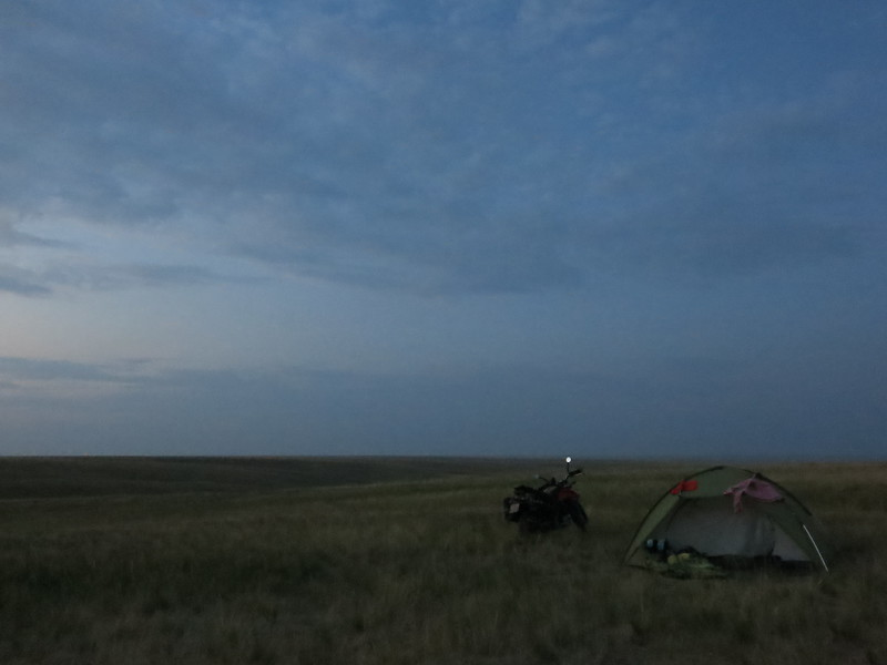 Nightfall on the steppe