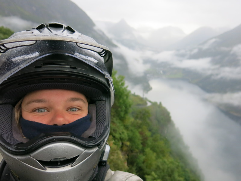 Selfie with a fjord. A #fjordie, if you like.