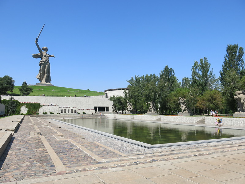 Main square below the Motherland statue