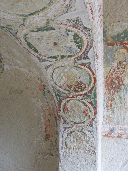 Beautiful frescos or what is left of them