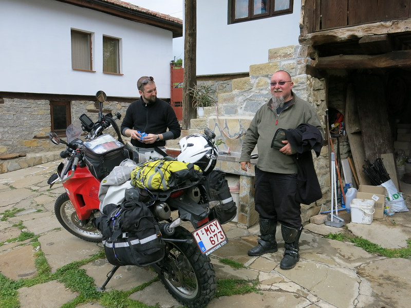 Saying goodbye to Tony at Motocamp Bulgaria